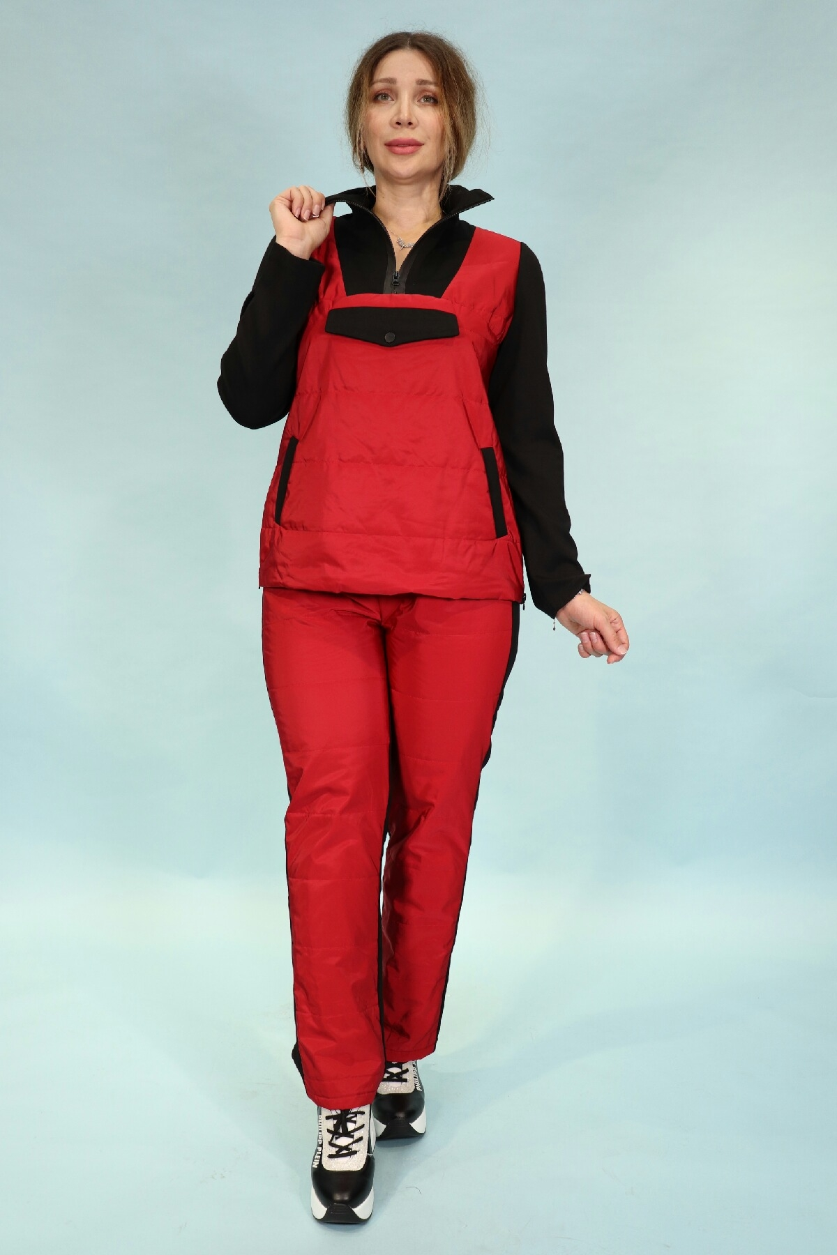 Two-Piece Suit-Red