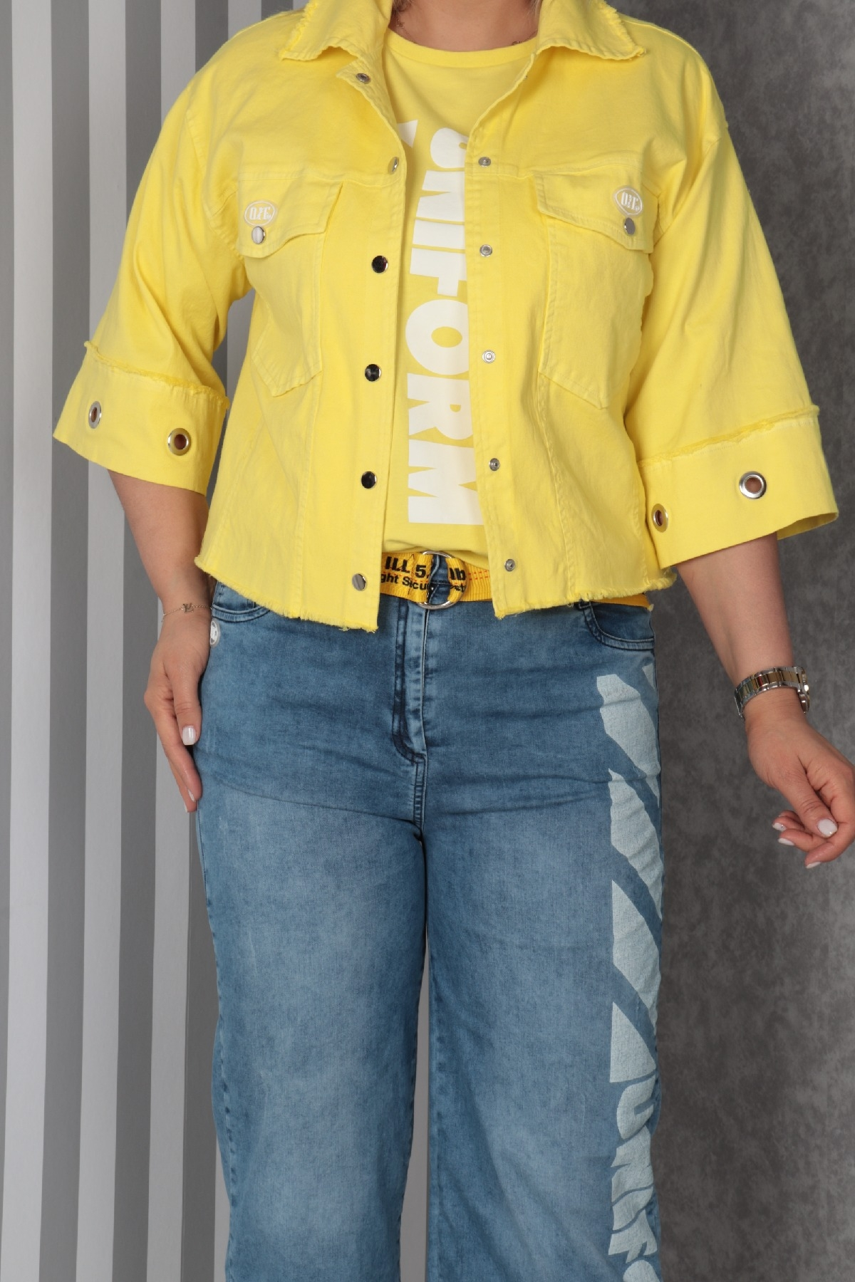 Women's 3 Piece Suits-Yellow