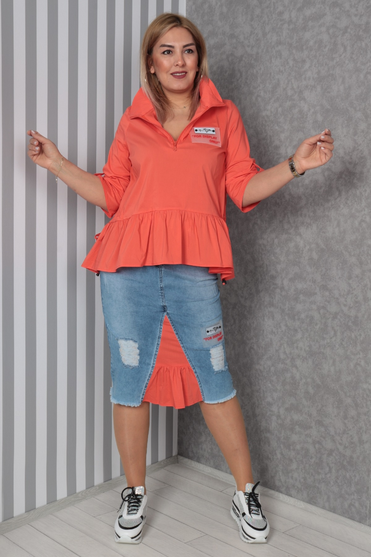 Two-Piece Suit-Coral