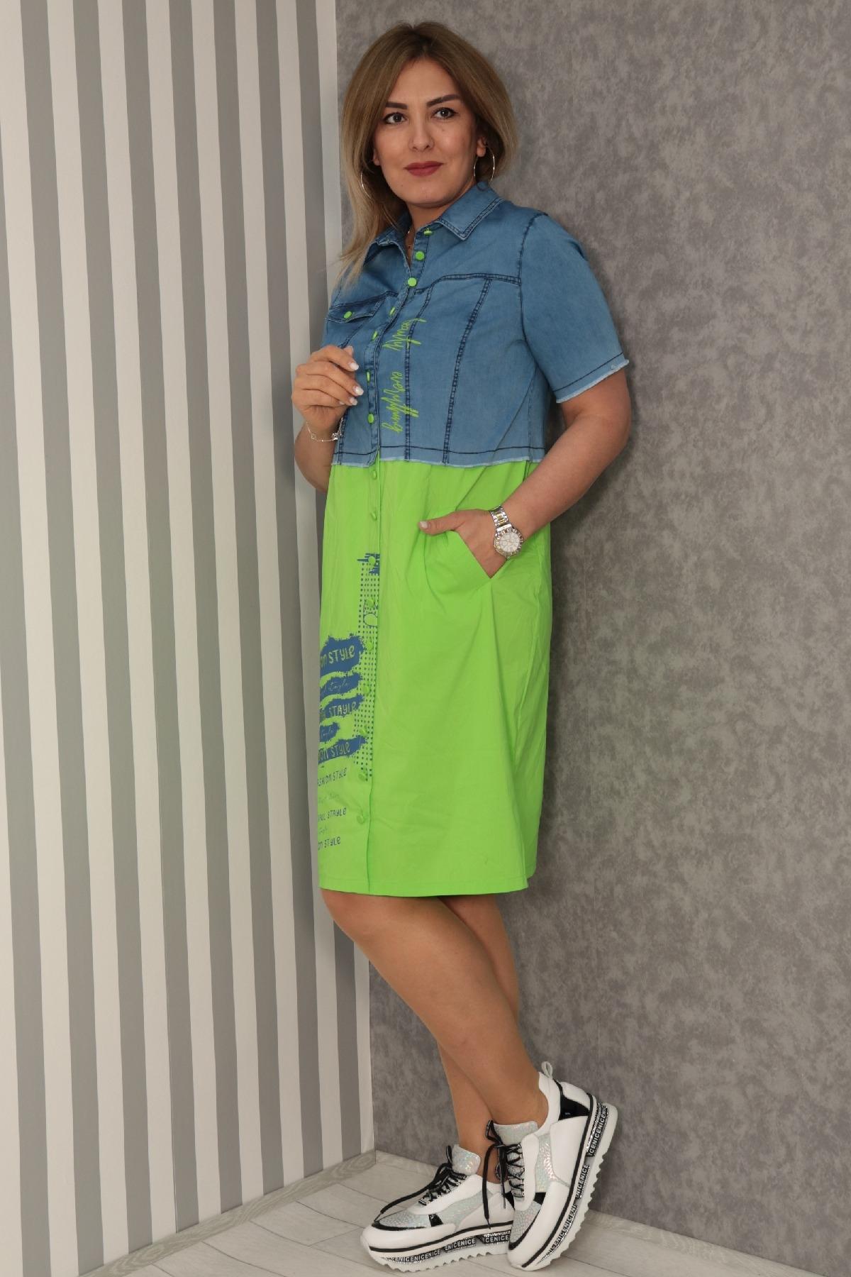 Dresses-Neon Green