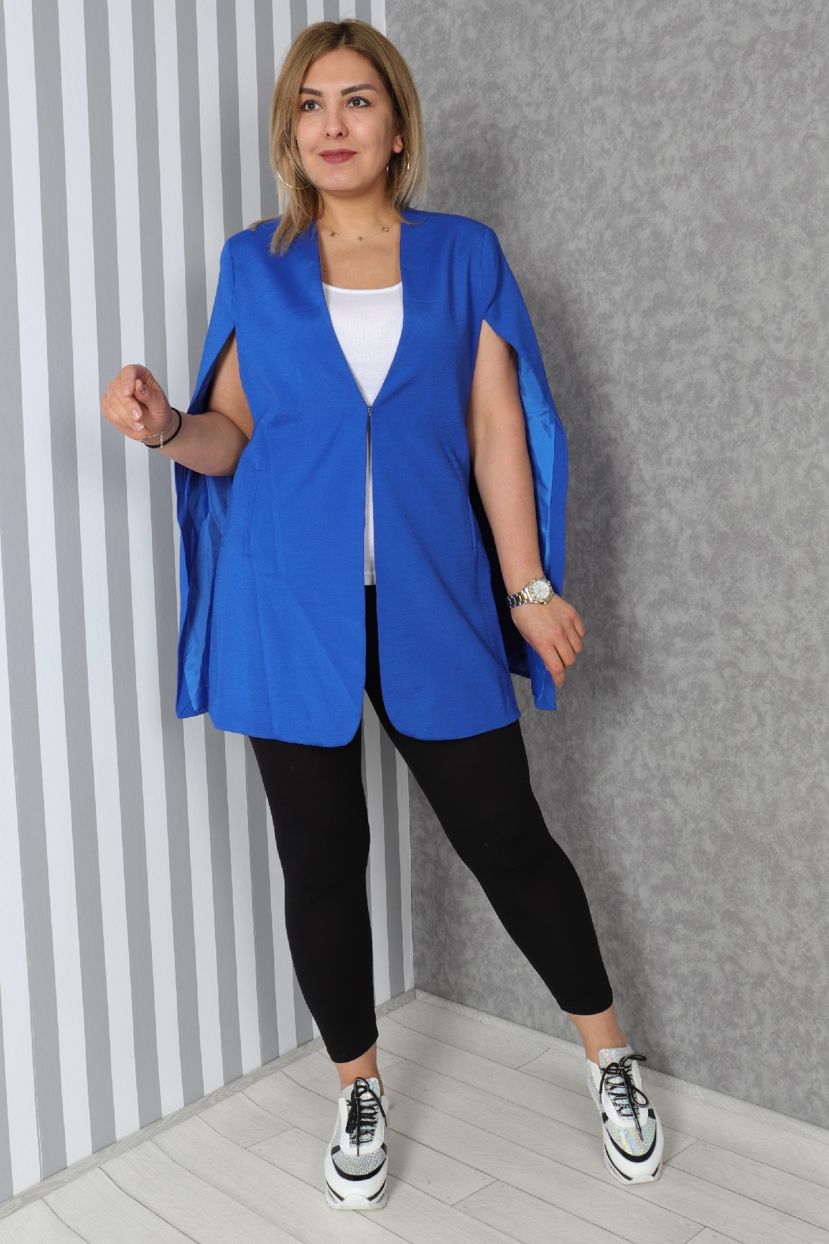 Casual Jacket-Bright Blue