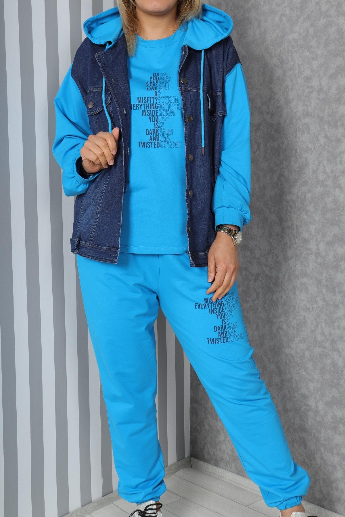 Women's 3 Piece Suits-Blue