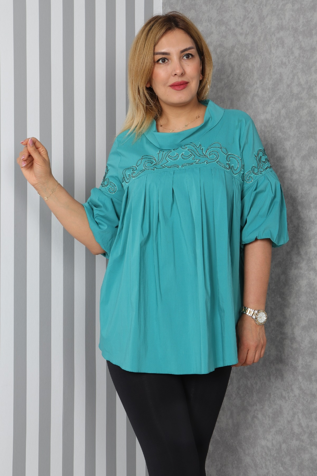 Blouses-Turquoise