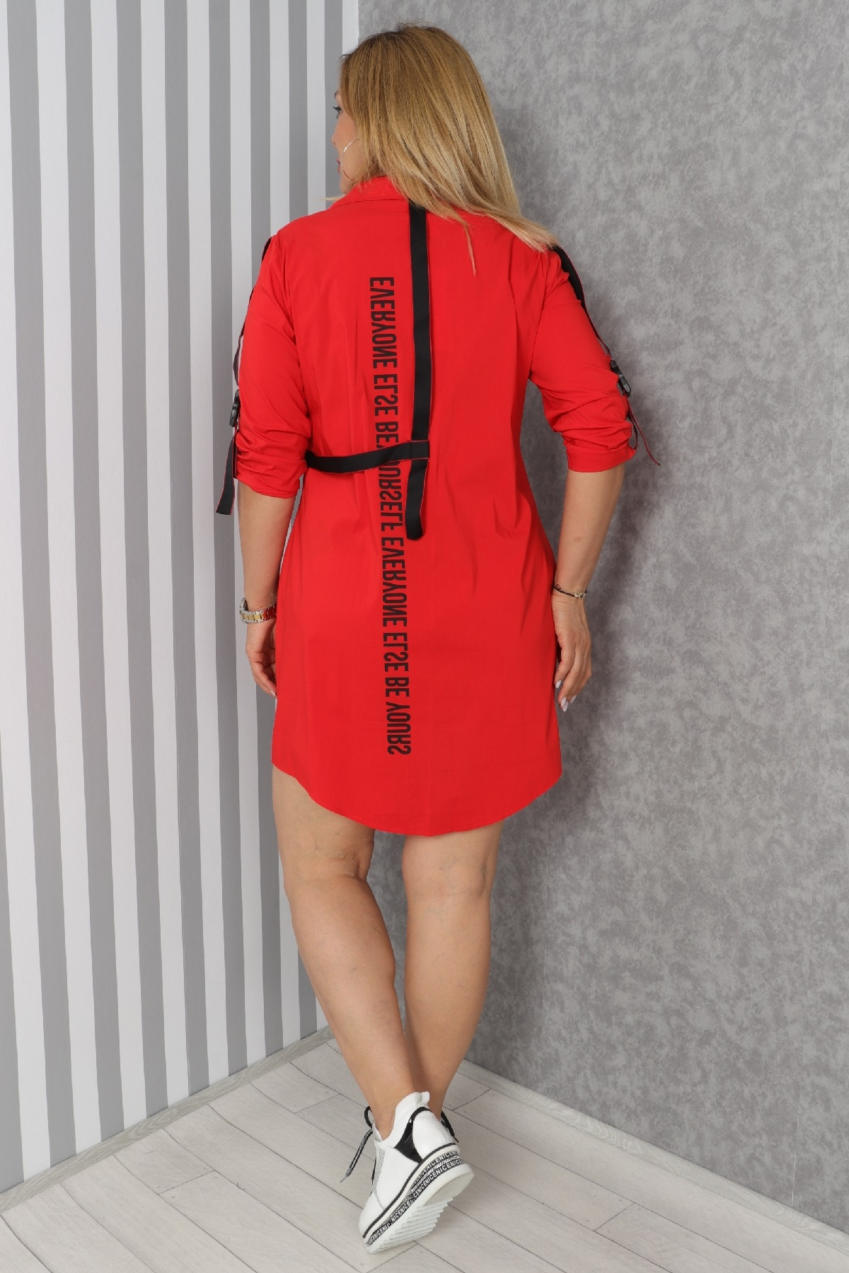 Casual Short Dresses-Red