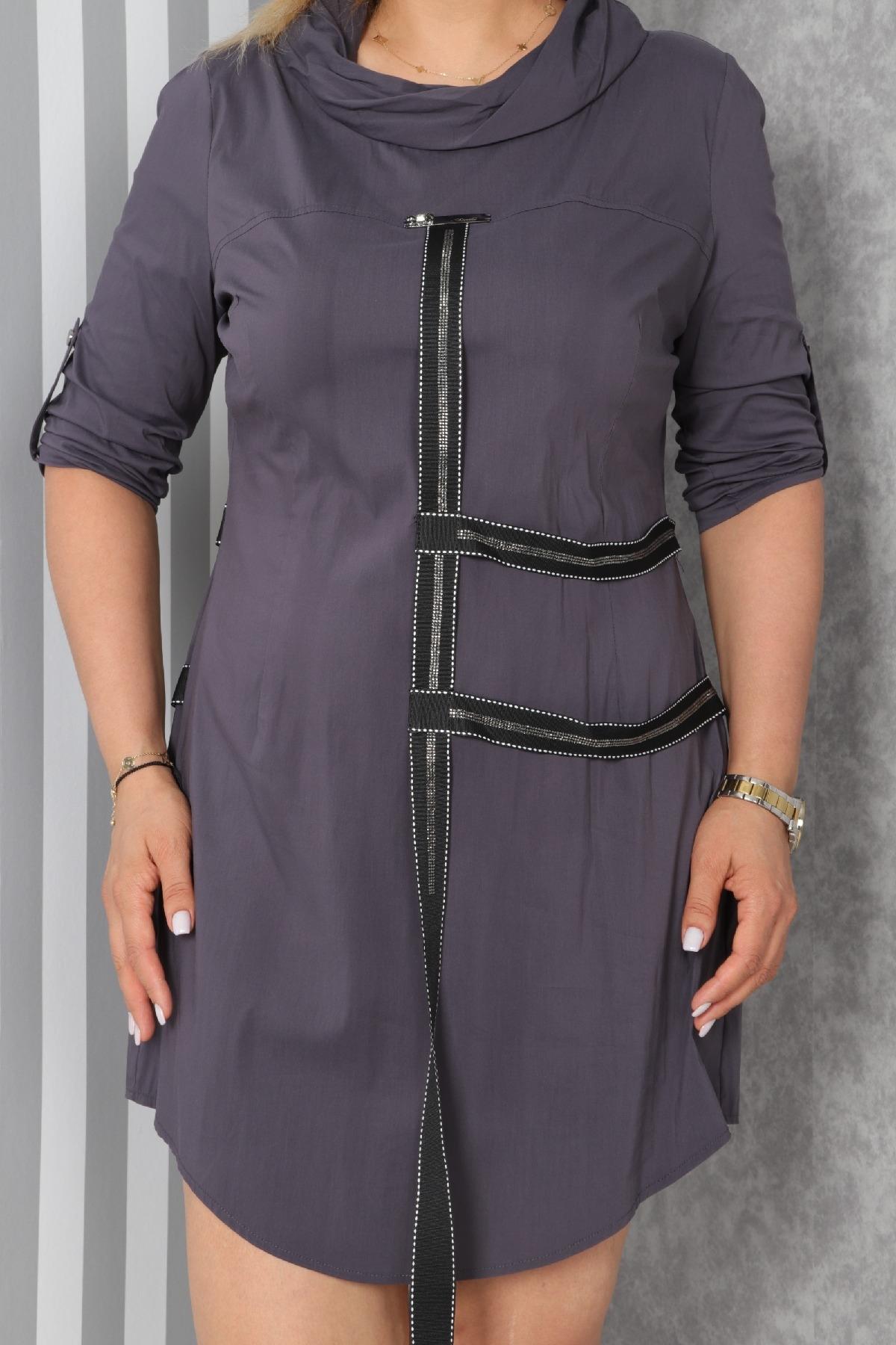 Casual Short Dresses-Grey