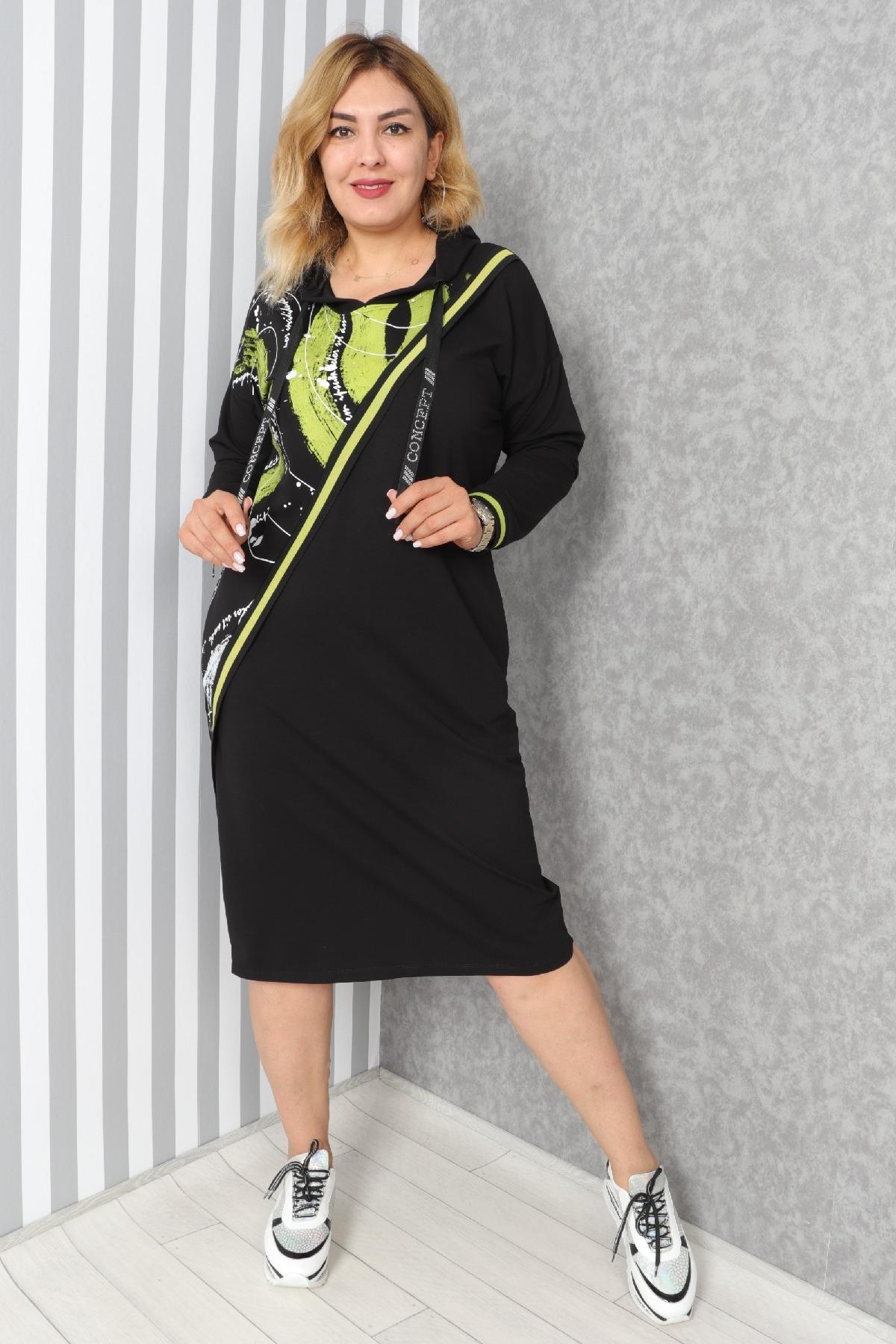 Casual Long Dresses-Neon Green