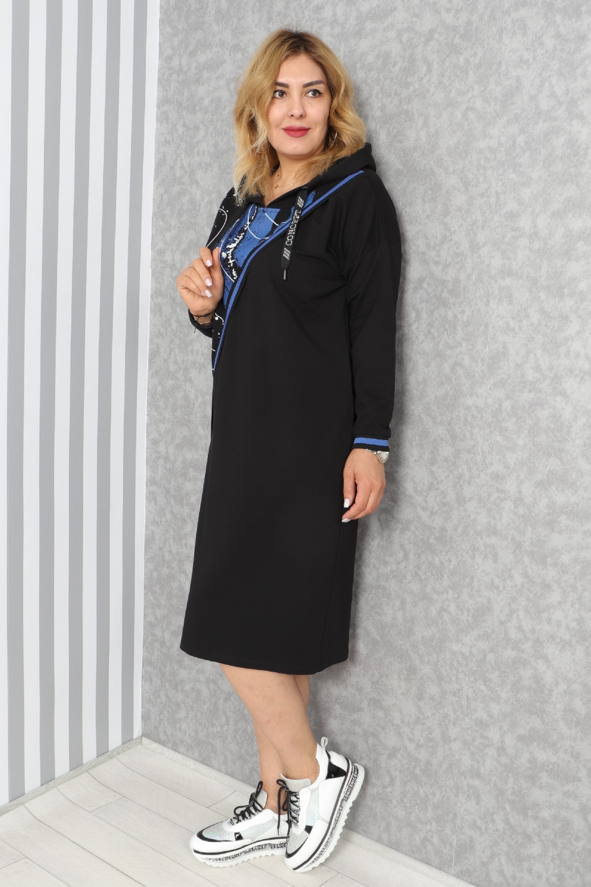 Casual Long Dresses-Blue
