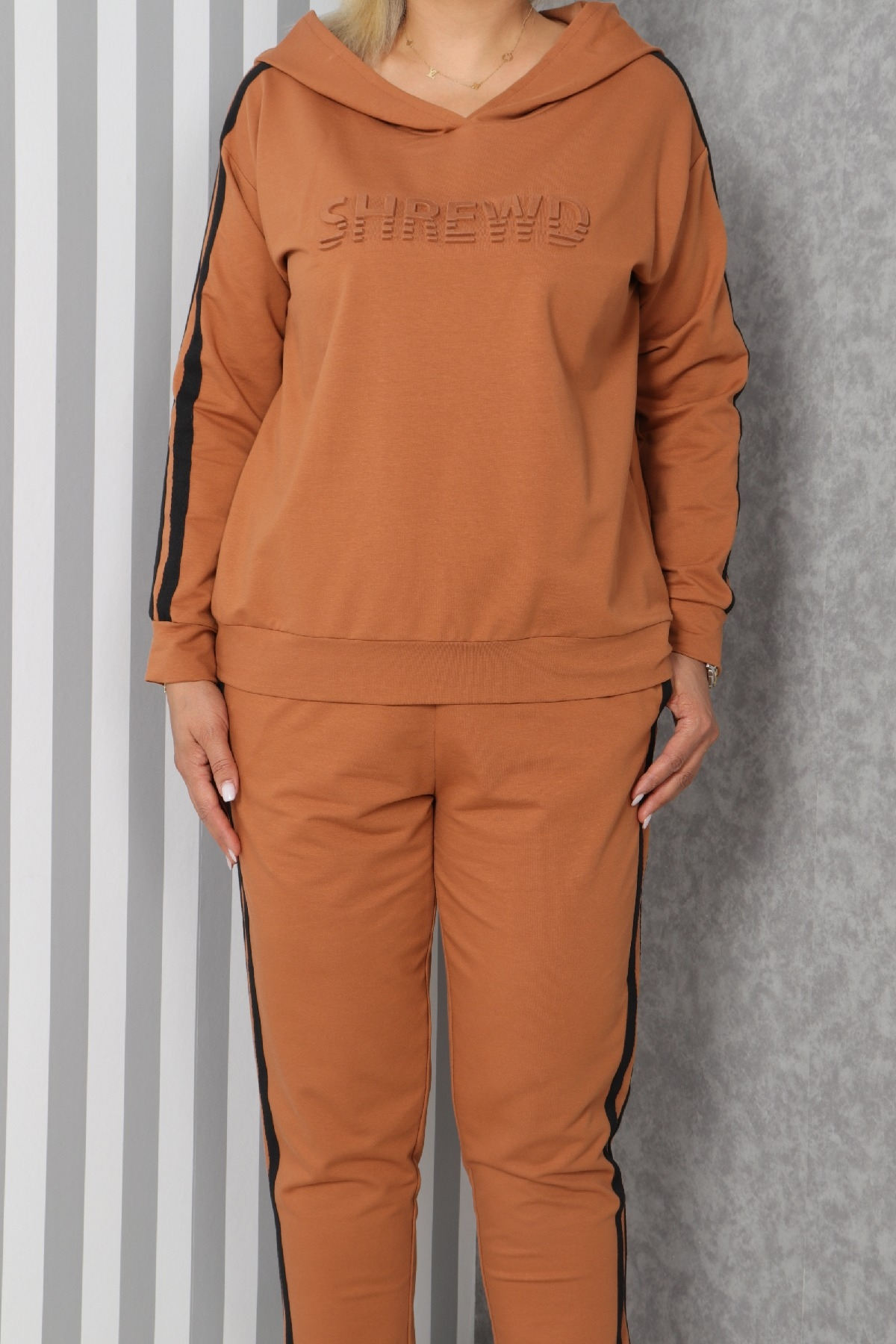Two-Piece Suit-Light Brown