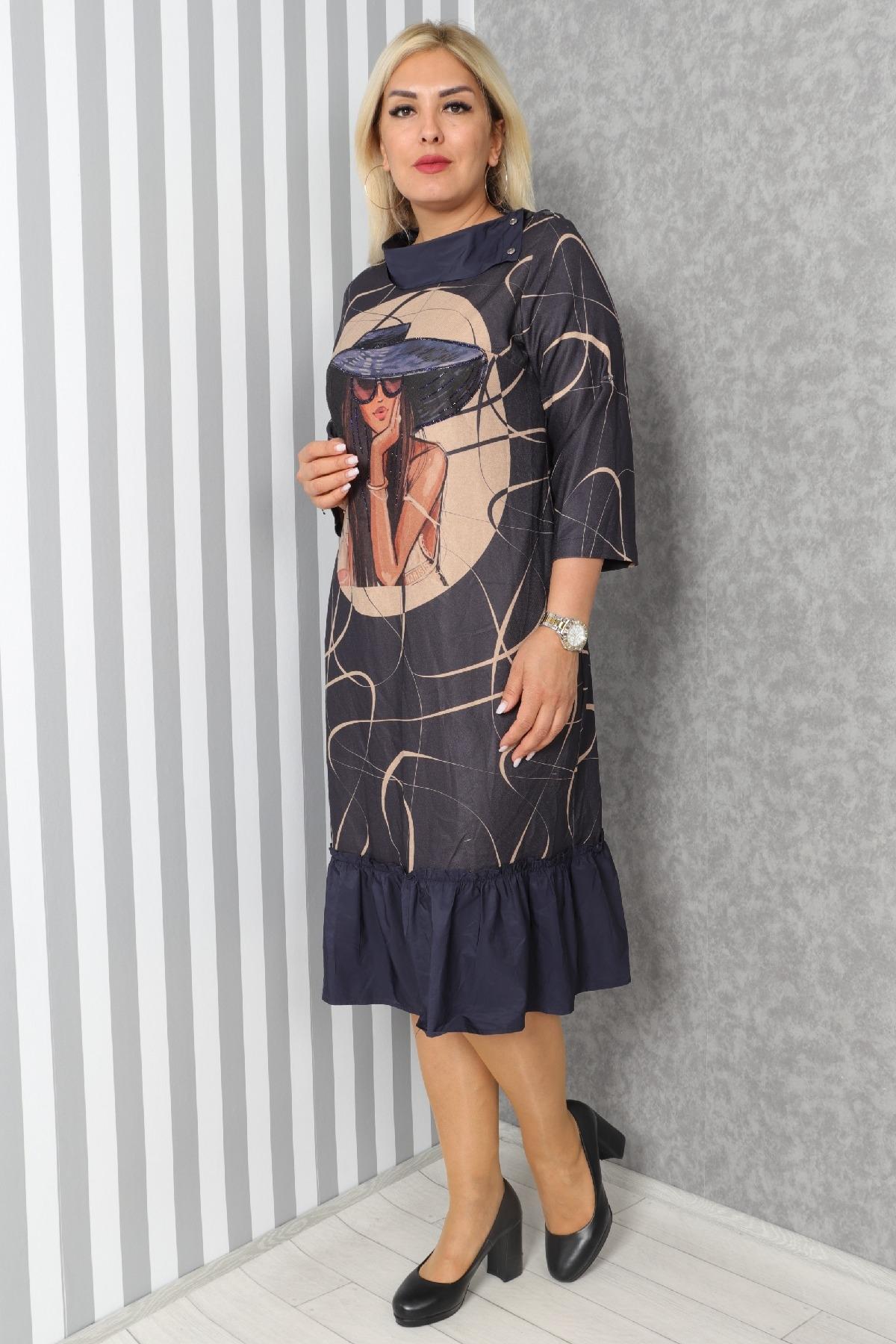 Casual Dresses-Dark Blue