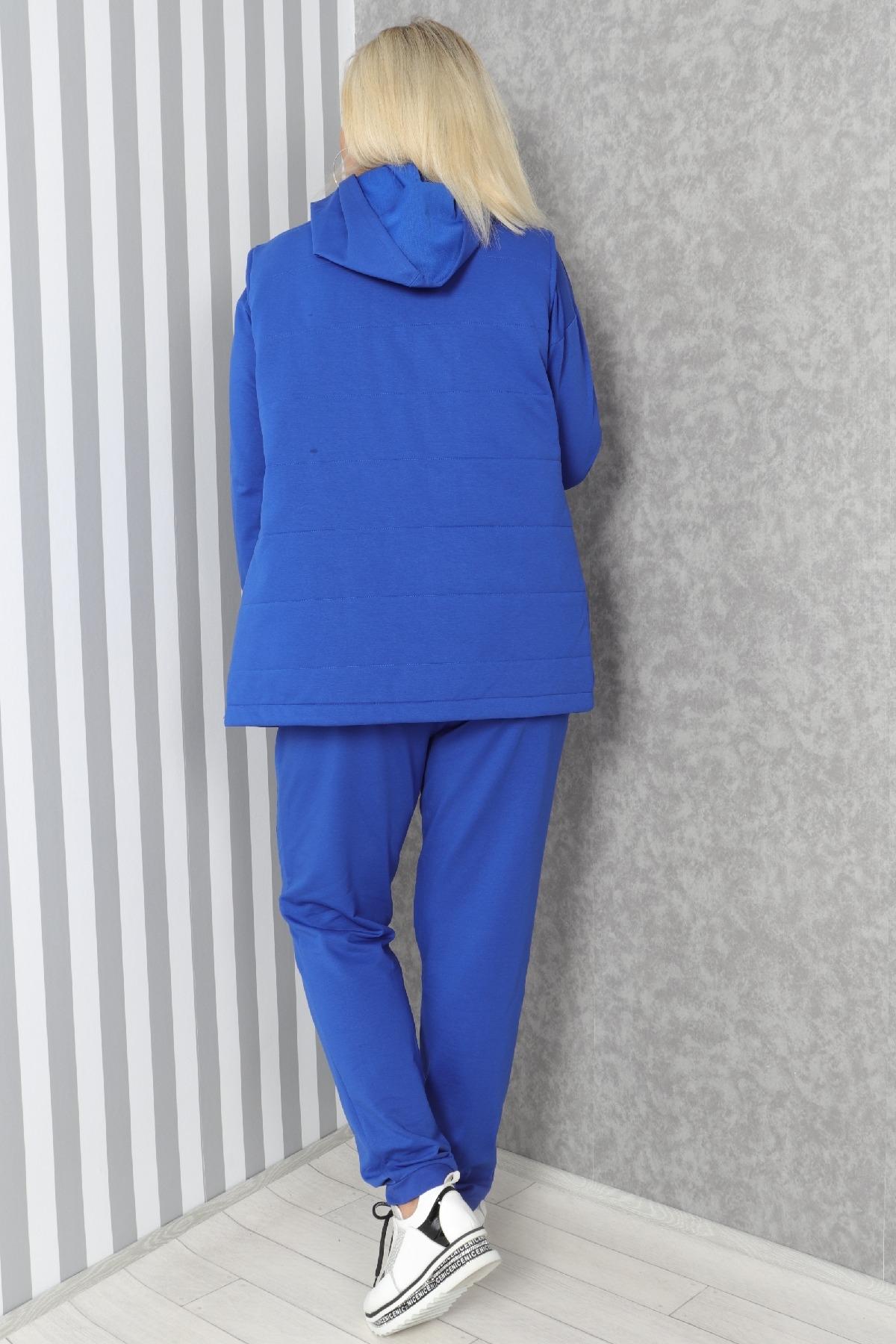 Women's 3 Piece Suits-Bright Blue