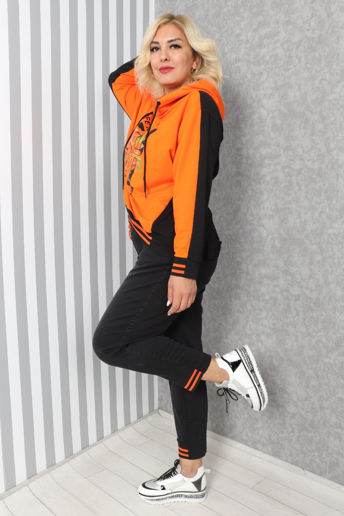 Two-Piece Suit-Orange