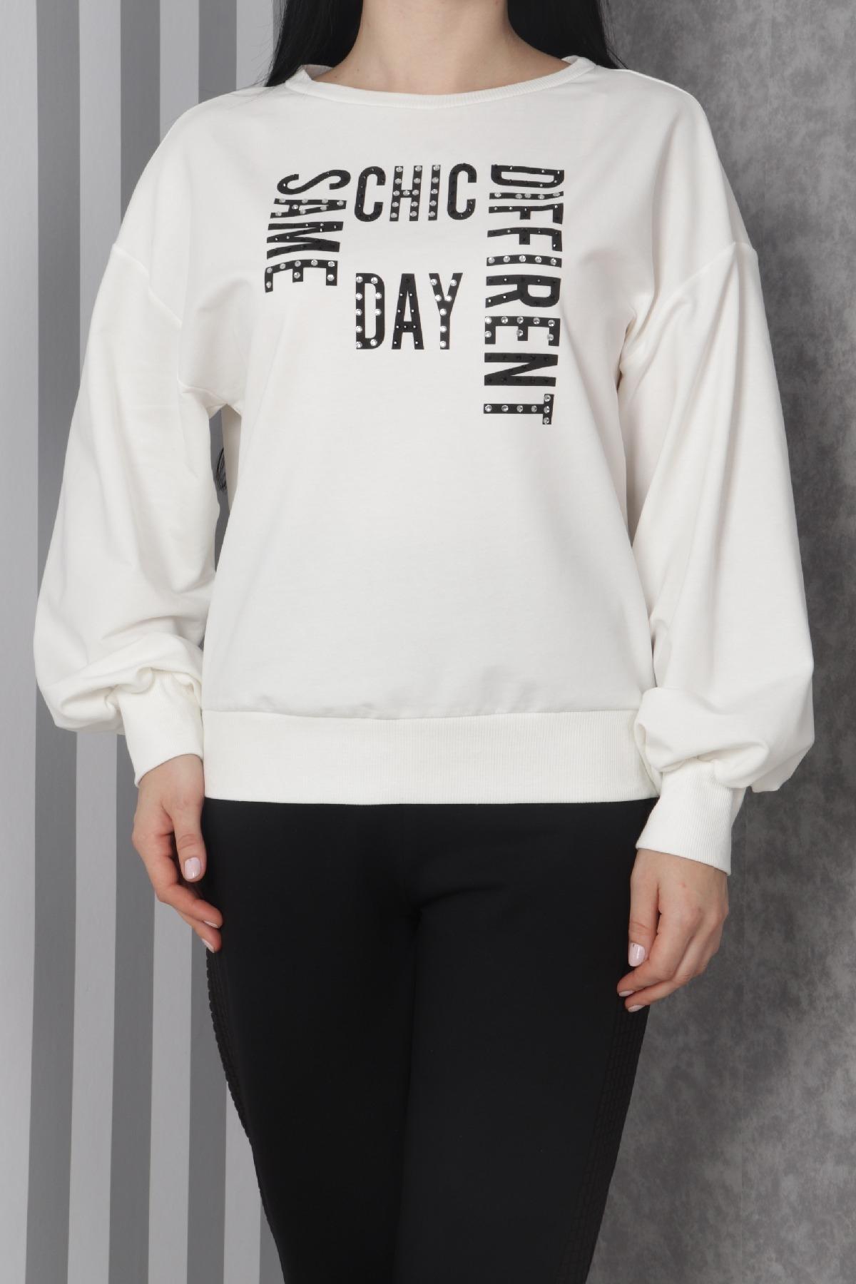 Sweatshirt-White