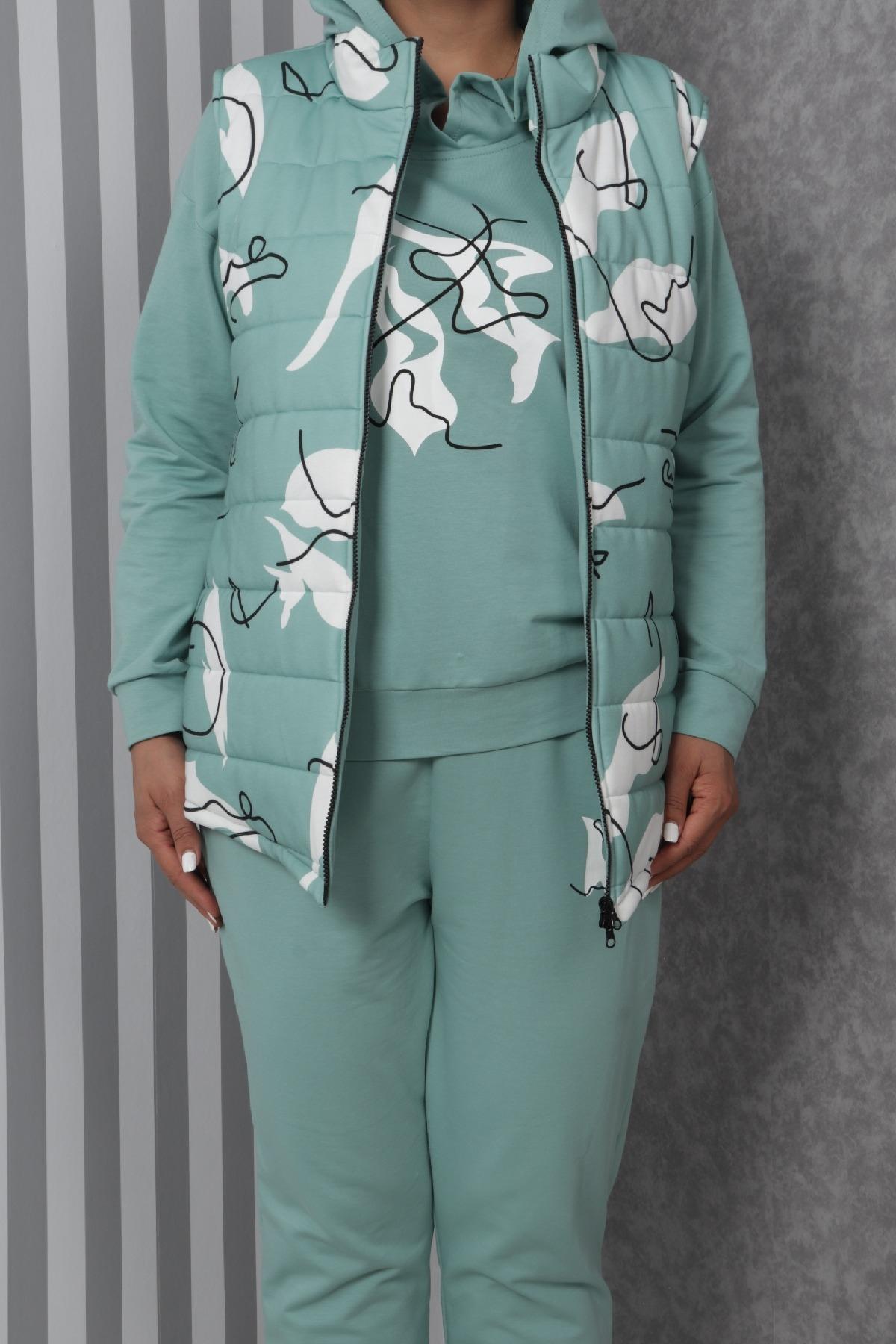 Women's 3 Piece Suits-Light green