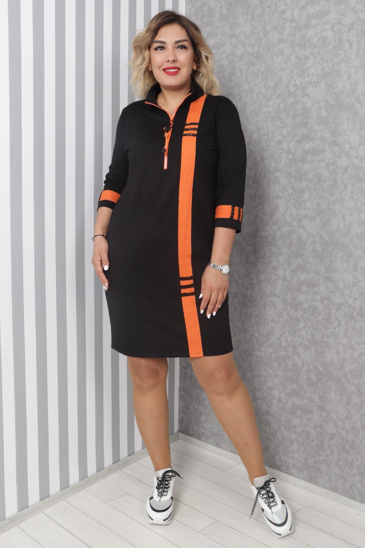 Casual Dresses-Orange