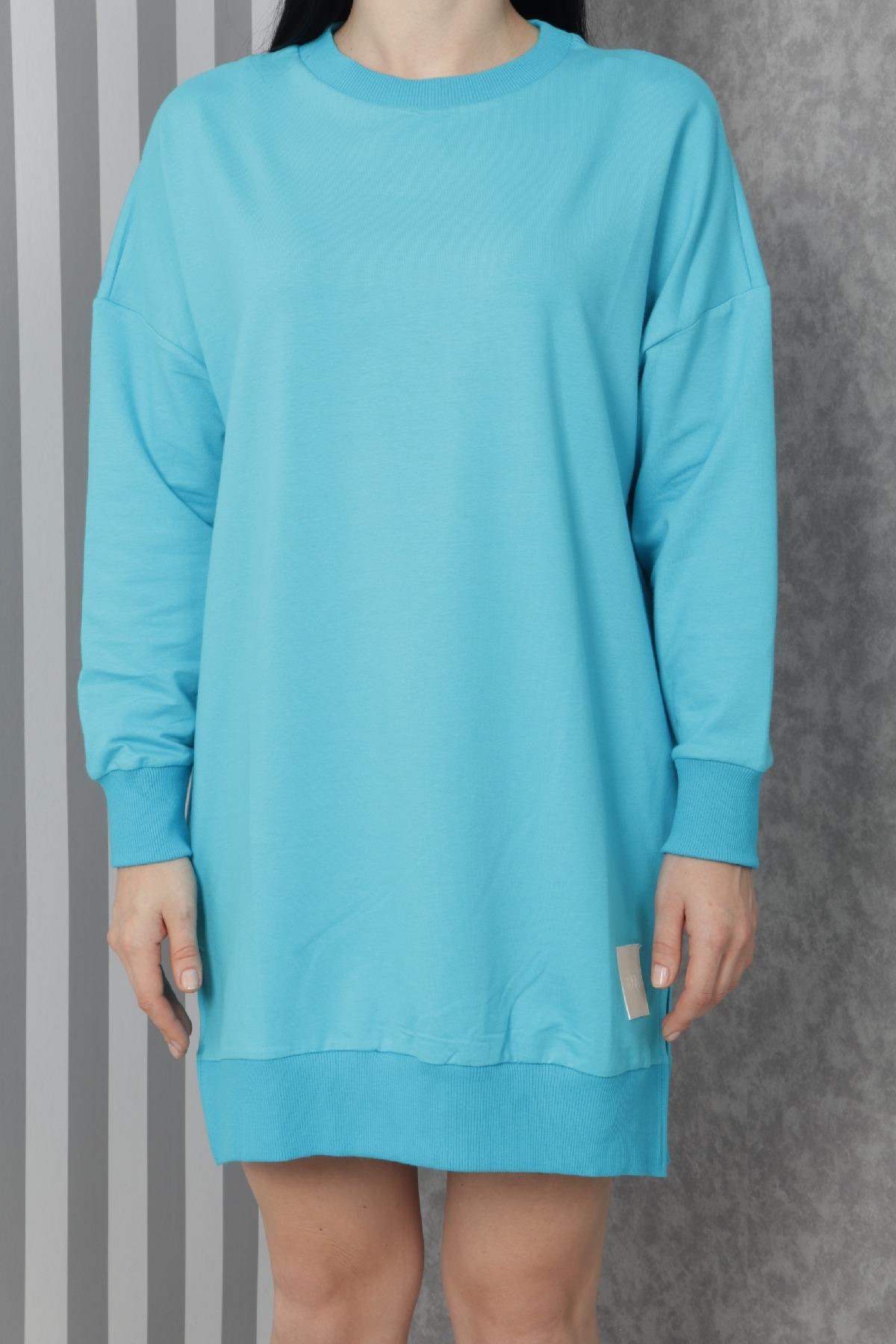 Casual Short Dresses-Blue
