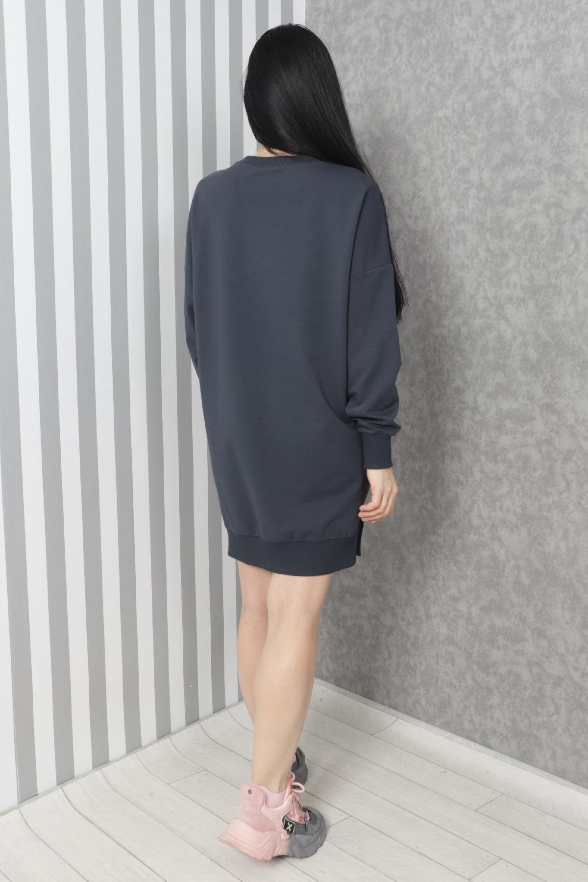 Casual Short Dresses-Dark Blue