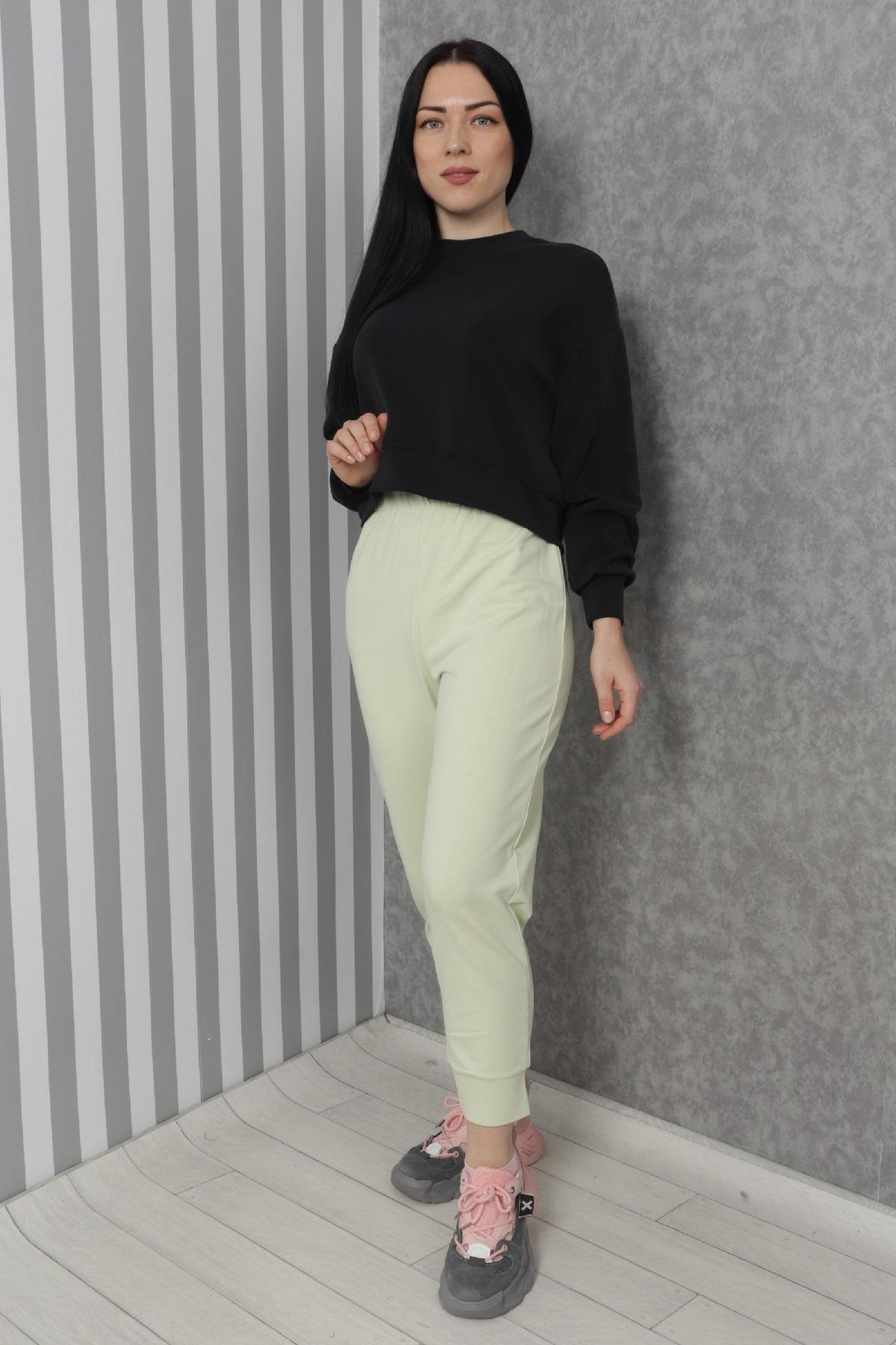 women pants-Neon Green