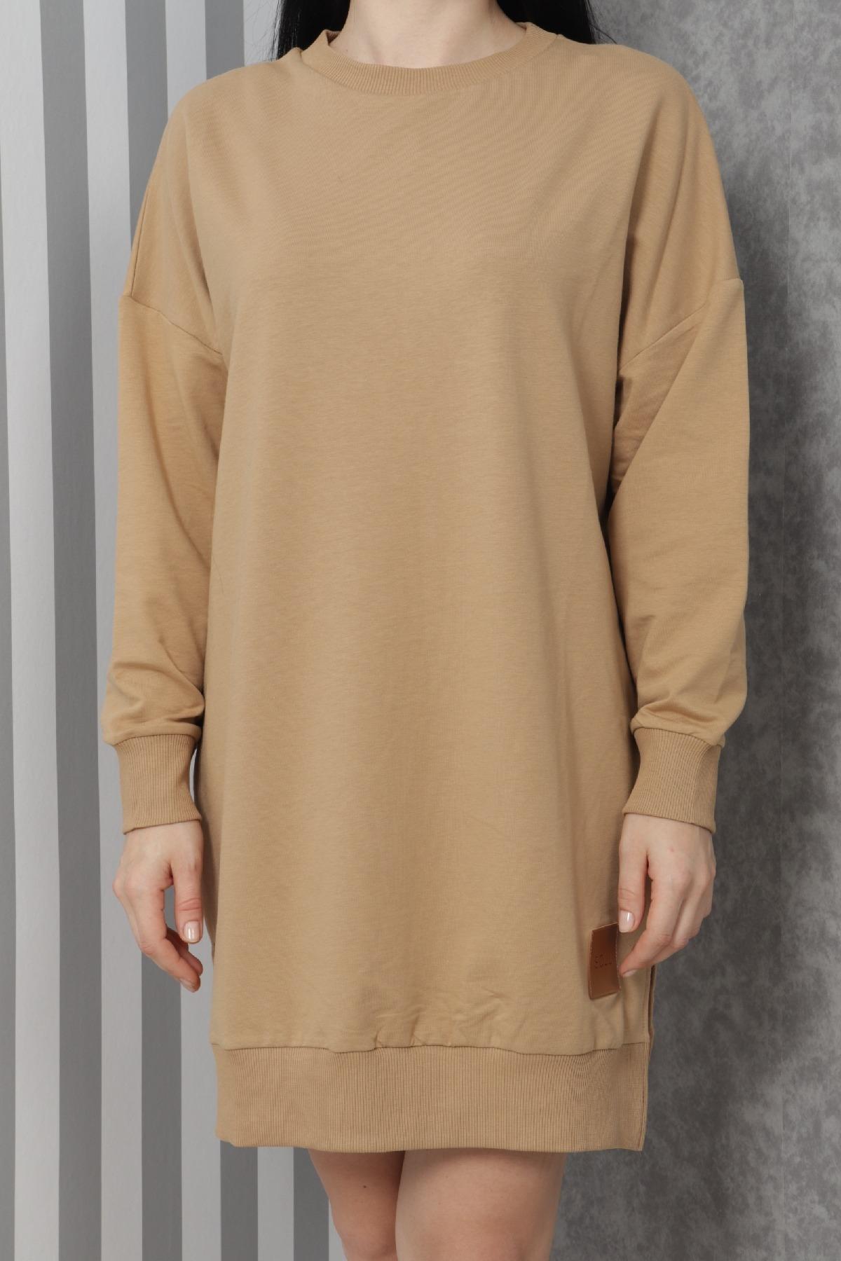 Casual Short Dresses-Mink